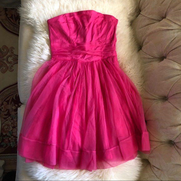 H&M Dresses & Skirts - NWT H&M Hot Pink Tulle Party Dress - US 4